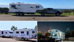 Caravan vs Fifth Wheeler vs Motorhome Image