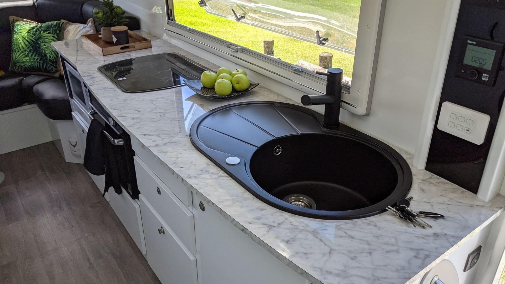 All new colour scheme kitchen