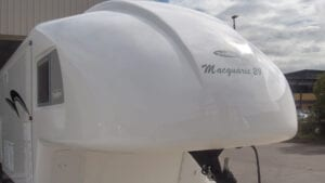 Nose cone of Travelhome for fuel efficiency