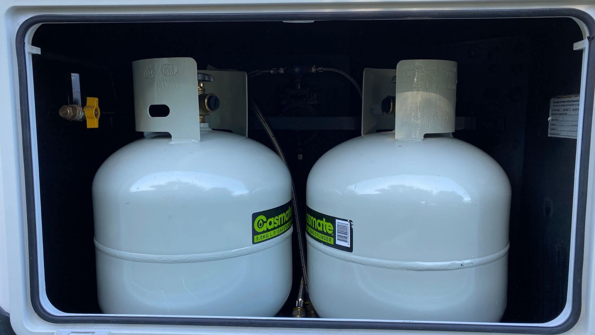 New gas bottles